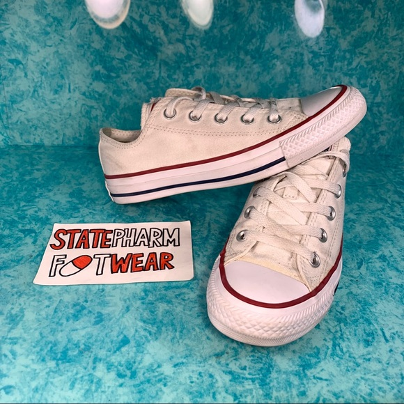 White Low Top Converse All Star